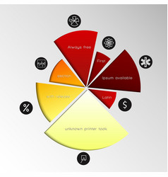 pie chart template vector image