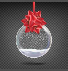 realistic christmas ball shiny glass xmas vector image