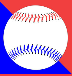 Red white and baseball vector