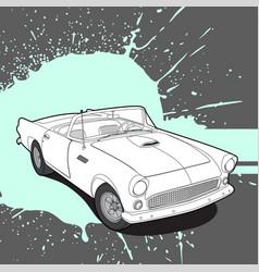 retro car on bright background vector image