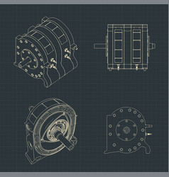 rotary engine blueprints vector image