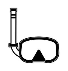 Scuba mask icon image vector