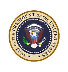 Seal president united states of vector
