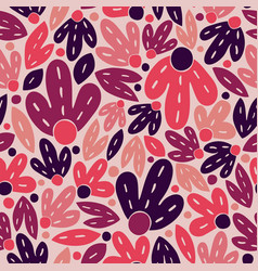 seamless coloring pattern with purple and pink vector image