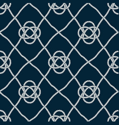 seamless nautical rope pattern vector image
