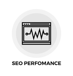 SEO performance Line Icon vector image