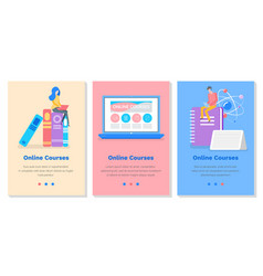 Set about educational courses vector