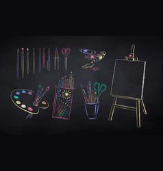 set art students supplie vector image
