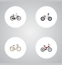 Set of transport realistic symbols with teenager vector