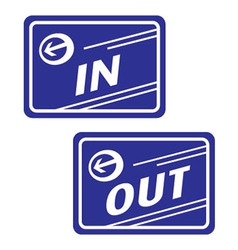 sign in and out vector image