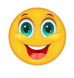 Smiling smiley face vector