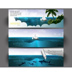 summer holiday web and print template vector image