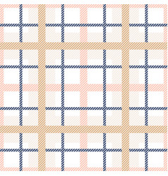Tartan plaid seamless pattern pastel colors vector