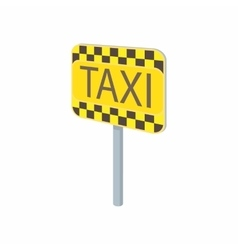 Taxi sign icon in cartoon style vector image