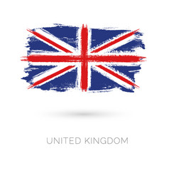 United kingdom colorful brush strokes painted vector