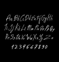 white of handwritten lettering font vector image