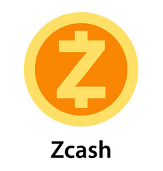 zcash icon flat style vector image
