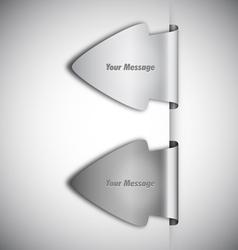 arrow labels vector image vector image