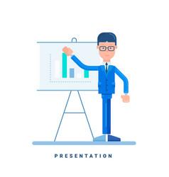 businessman giving a presentation business vector image vector image