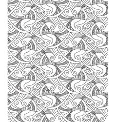 Decorative fish seamless pattern vector