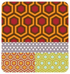 seamless honeycomb pattern set of vector image vector image