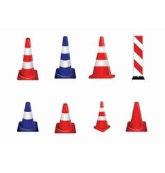 Set of Road signs Orange Badge guardrails on vector image
