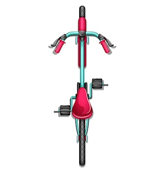 A topview of a bike vector image