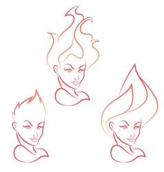 Fire Girl vector image