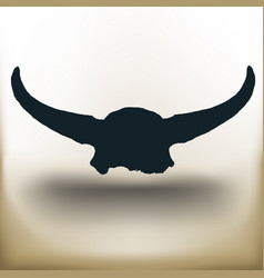 simple buffalo skull vector image