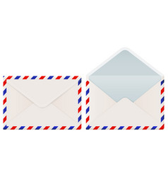 international mail envelope backside closed and vector image
