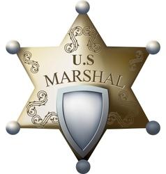Marshals badge vector image vector image
