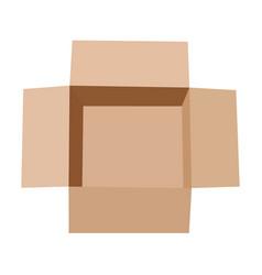 open flat box vector image vector image