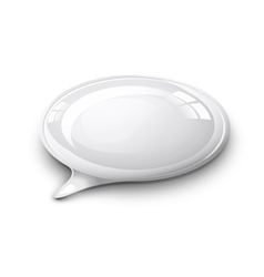 speech bubble white vector image vector image