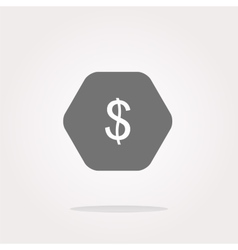 web icon cloud with dollars money sign vector image vector image