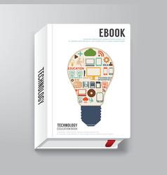 Book cover digital design minimal style template vector