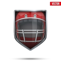Bright shield in the american football helmet vector image vector image