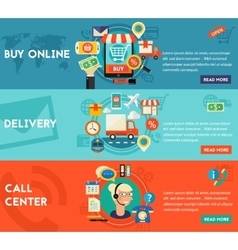 Buy Online Call Center And Delivery Concept vector image vector image