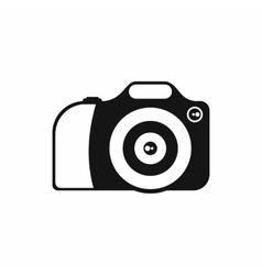 Camera icon in simple style vector