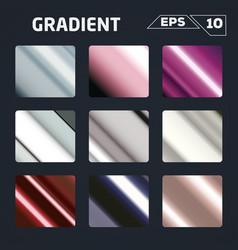 color gradient set vector image