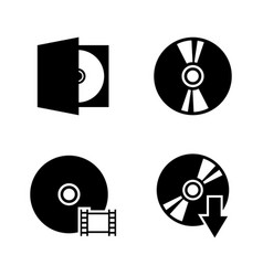 compact disk simple related icons vector image vector image