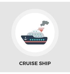 Cruise Ship Flat Icon vector image