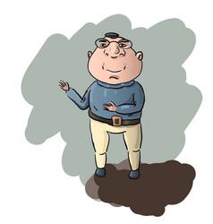 Funny cartoon man vector