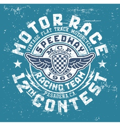 Motor race contest vector image vector image