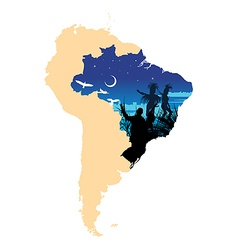 South America vector image vector image