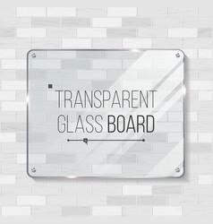 transparent glass board decorative graphic vector image