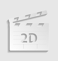 2d film sign paper style icon vector
