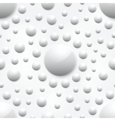 Abstract background with white glossy spheres vector