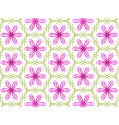 abstract flawer repeat backdrop with lace floral vector image