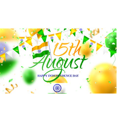 banner happy independence day in india vector image