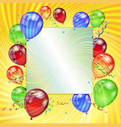 Birthday holiday card vector